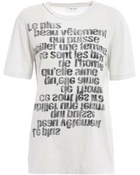 Saint Laurent - T-shirt For Women On Sale - Lyst