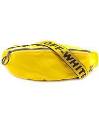 Off-White c/o Virgil Abloh Logo Plaque Nylon Belt Pack - Yellow