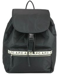 A.P.C. Repeat Nylon Backpack - Black