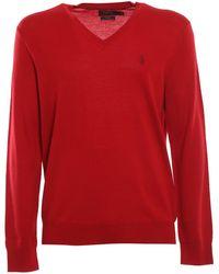 Ralph Lauren Maglione in lana - Rosso