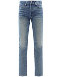 Tom Ford Bleached Denim Jeans - Blue
