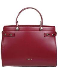 Furla Lady M Bag In Ciliegia Colour - Red