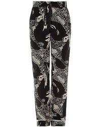 RED Valentino Fenici Printed Pyjama Trousers - Black
