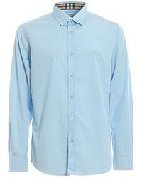 Burberry Serjeants Embroidered Logo Shirt - Blue