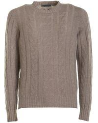 Corneliani Cable-knit Cashmere Turtleneck - Natural