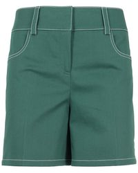 Boutique Moschino Cotton Blend Shorts - Green