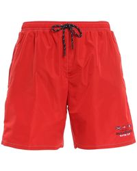 Paul & Shark Nylon Swim Shorts - Red