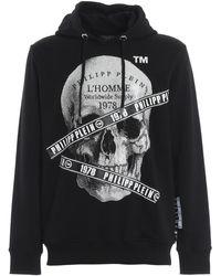 Philipp Plein - Rhinestone Skull Hoodie - Lyst