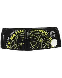 McQ Black Belt Bag With Neon Prints