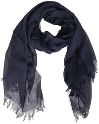 Fay Viscose And Cashmere Scarf - Blue