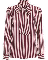 Michael Kors Striped Silk Shirt - White
