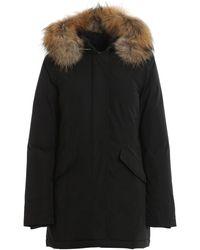 Woolrich Boulder Black Fur-trimmed Shell Parka