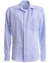 Brioni Light Blue Linen Shirt