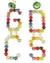 Gcds Rhinestone Earrings Multicolor