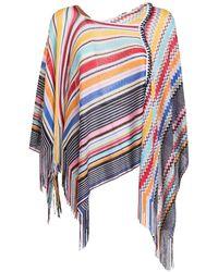 Missoni Viscose Poncho Multicolor
