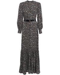 Michael Kors Floral Print Maxi Dress - Brown