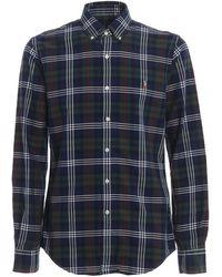 Ralph Lauren Plaid Cotton Button-down Shirt - Blue