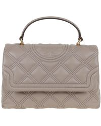 Tory Burch Fleming Soft Top-handle Satchel - Grey