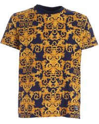 Versace Jeans Couture Logo Baroque Print T-shirt - Blue