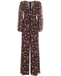 Michael Kors Georgette Effect Floral Jumpsuit - Brown