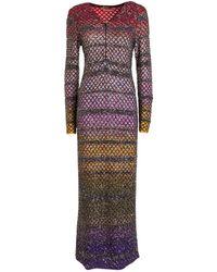 Missoni Maxi abito con paillettes - Multicolore