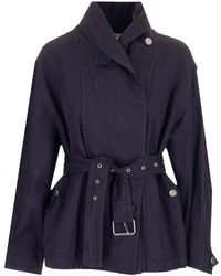 Étoile Isabel Marant Trench Prunille color Faded Night - Blu