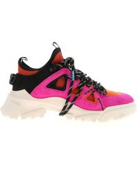 McQ Orbyt Mid Sneakers In Fuchsia And Orange - Pink