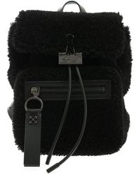 Off-White c/o Virgil Abloh Montone Binder Black Backpack - White