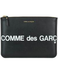 Comme des Garçons Sa5100hl Huge Logo Wallet Black