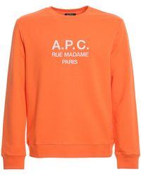 A.P.C. Felpa girocollo Rufus - Arancione