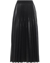 Givenchy Coated Pleated Midi Skirt - Black