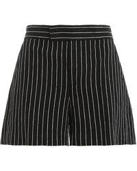 Polo Ralph Lauren Linen Striped Shorts - Black