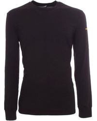 DSquared² Branded Long Sleeves T-shirt In Black