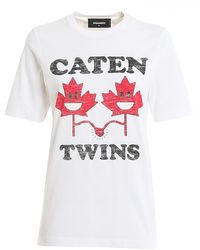 DSquared² T-shirt Caten Twins - Bianco