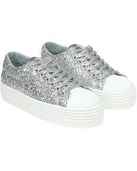 Chiara Ferragni Sneaker Platform in glitter argento - Metallizzato
