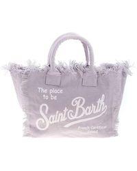 Mc2 Saint Barth Logo Printed Bag In Lillac - Purple