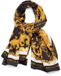 Versace Jeans Couture Versailles Print Silk Scarf - Black