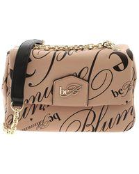be Blumarine - Geneva Shoulder Bag In Nude Color - Lyst