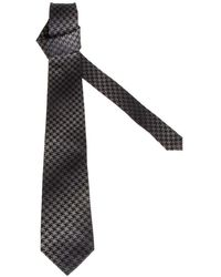 Etro Mens 1T15331051 White//Black Silk Bow Tie