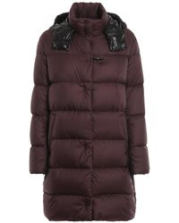 Fay Matte Hooded Padded Coat - Multicolor