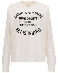 Zadig & Voltaire Felpa con stampa logo - Bianco