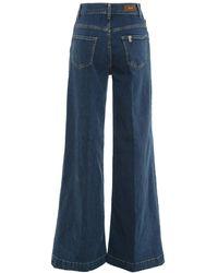 Liu Jo Stretch Denim Palazzo-cut Jeans - Blue