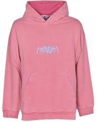 MSGM Felpa con cappuccio oversize rosa