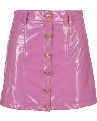 Chiara Ferragni Vinyl Mini Skirt - Pink