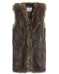 Dondup Gilet Ashlynn in eco pelliccia - Marrone