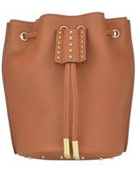 Tod's Studded Drawstring Bucket Bag - Brown