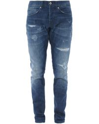 Dondup George Stonewashed Skinny Jeans - Blue