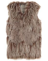 Zadig & Voltaire Fig Faux Fur Vest - Natural