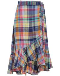 Polo Ralph Lauren Madras Skirt - Blue