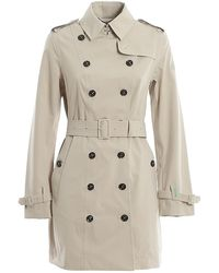 Save The Duck Recycled Tech Fabric Trench - Natural
